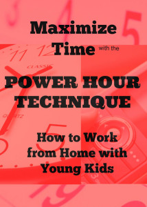 Learn some great ways to work from home with young children.