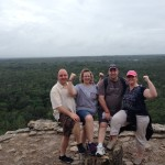 At the top of the ruins in Coba.
