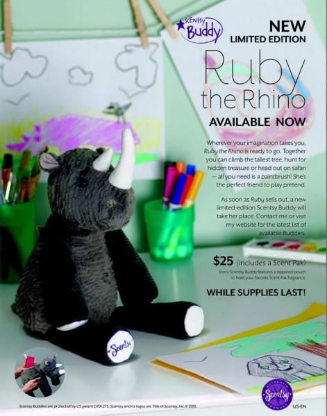 Rhino Scentsy® Buddy scented stuffed animal