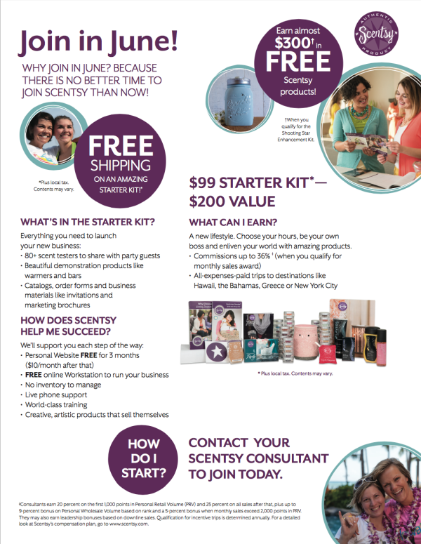 Scentsy® Join Special June 2015