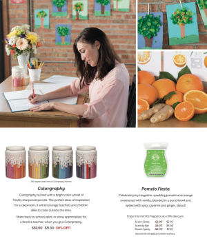 Colorgraphy Scentsy® August Warmer Special