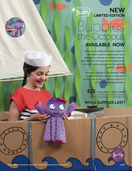 Octopus Scentsy® Buddy, Bubbles