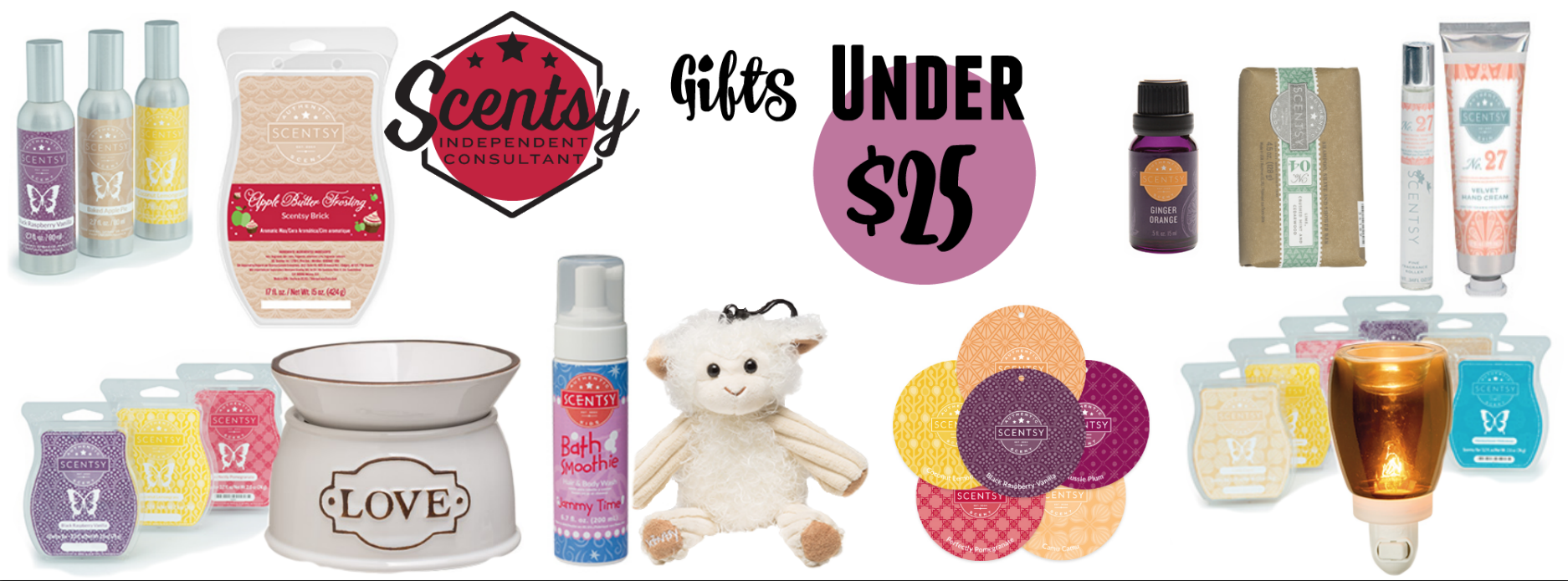 Gifts for $25 and under with Scentsy® products
