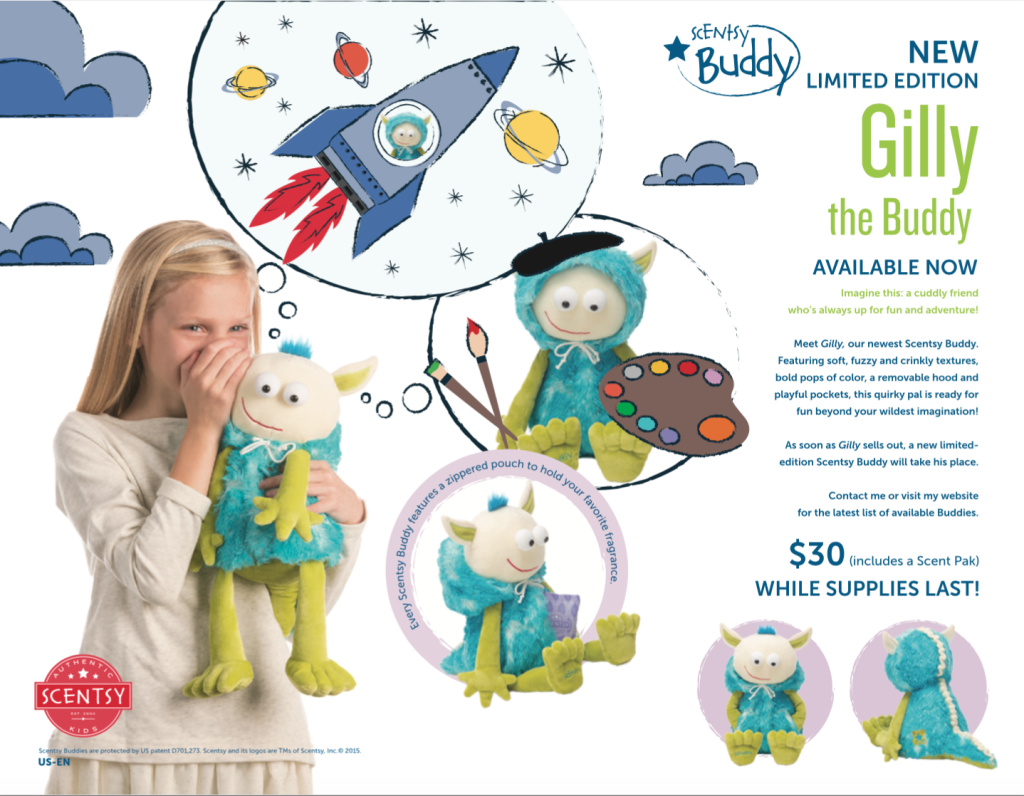 Gilly the Monster Scentsy® Buddy