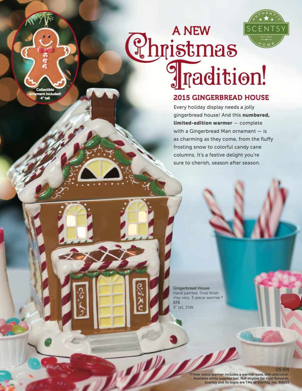Scentsy® Gingerbread House Warmer 2015