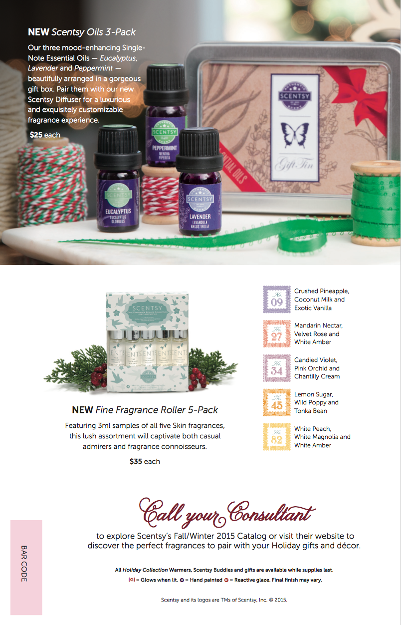 Scentsy® Holiday Gift Guide 2015