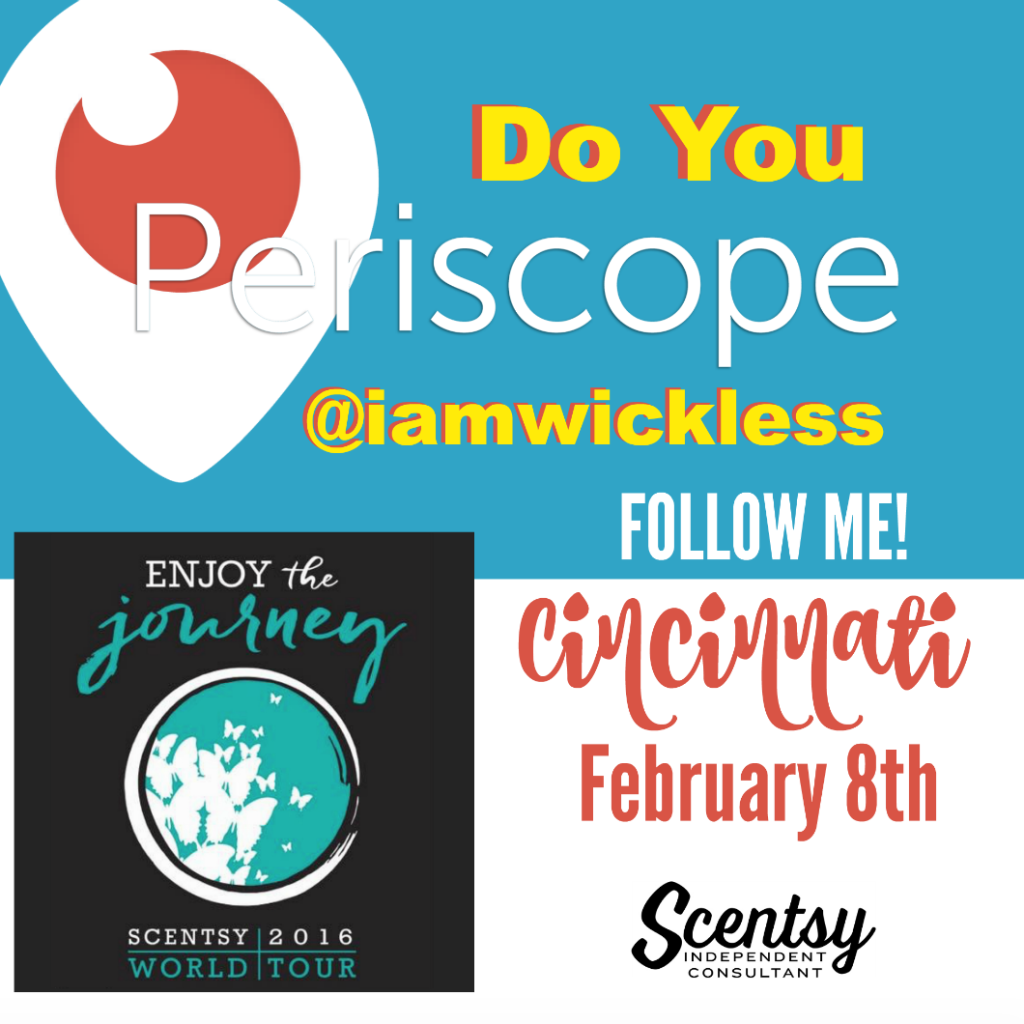 Scentsy World Tour Cincinnati 2016 Periscope