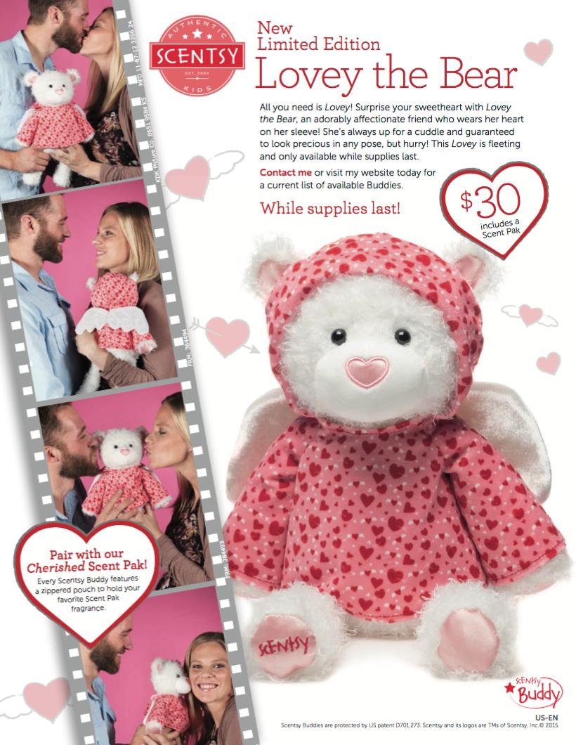 Scentsy® Valentine Bear Buddy Lovey