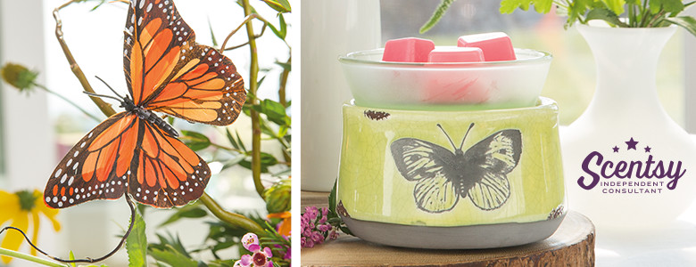 Butterfly Scentsy® Wickless Candle Warmer