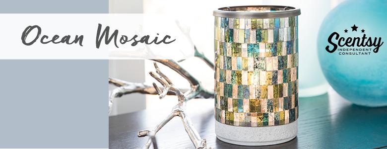 Modern Ocean Mosaic Scentsy® Warmer