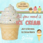 National Ice Cream Month 2016 Scentsy® Warmer