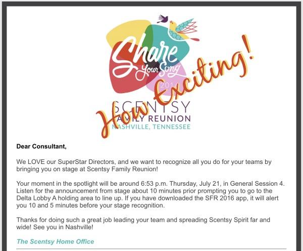 Scentsy Convention Nashville 2016 SuperStar Director Recognition