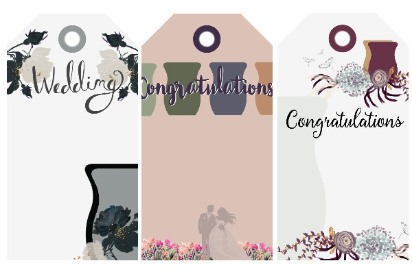 ScentsyR Wedding Gift Tags