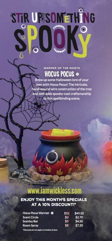 Hocus Pocus Scentsy Warmer September Scentsy Special Buy