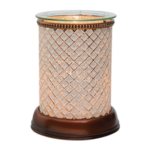 Cream Diamond Shade Scentsy Warmer